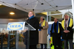 It was icy cold at the IKEA Winnipeg opening,but the welcome was warm and Tree Canada appreciated the $80,000 donation.