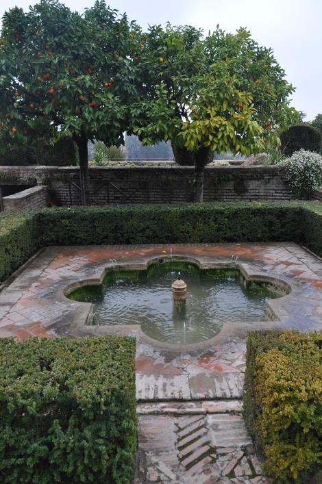 A flower-design pool.