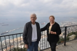 Standing on Gibraltar where royalty trod, overlooking the port.